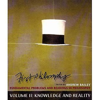 Première connaissance de la philosophie et réalité, les problèmes fondamentaux et lectures de philosophie