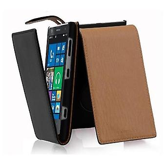 Cadorabo Case for Nokia Lumia 1020 Case Cover - Phone Case in Flip Design in Textured Faux Leather - Case Case Case Case Case Case Folding Style