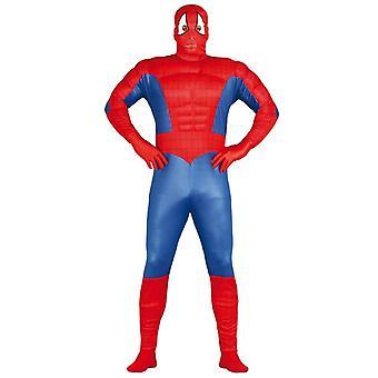 Herre Spiderman muskel superhelte Fancy kjole kostume