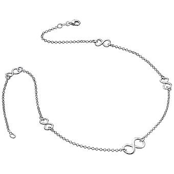 Bella 5 Piece Infinity Necklace - Silver