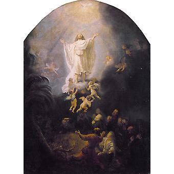 The Ascension of Christ, Rembrandt, 50x36cm