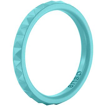 Enso Rings Pyramid Stackables Series Silicone Ring - Turquoise