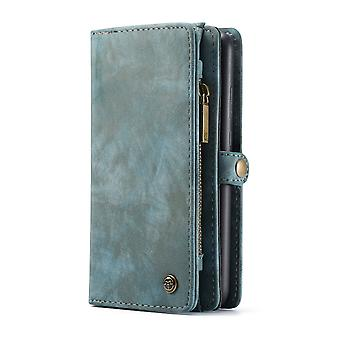 Huawei P30 CASEME retro nahka lompakko kotelo sininen