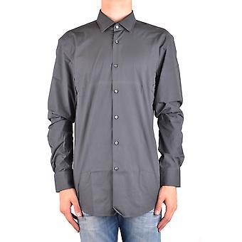 Hugo Boss Ezbc143003 Men's Grey Cotton Shirt