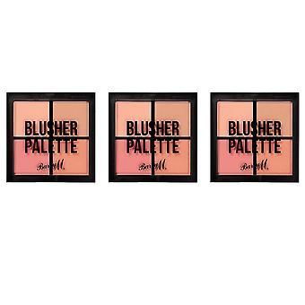 Barry M 3 X Barry M Blusher Quad Palette