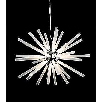 Erstlicht-LED Light Ceiling Pendant Chrome, Frosted Acryl-Shades-4882CH