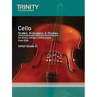 Cello Scales - Arpeggios & Studies Initial-Grade 8 from 2016 by Trini