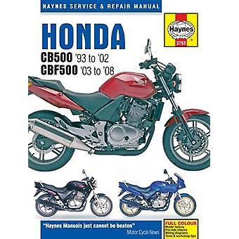 Honda CB500 Service and Repair Manual - 9781785210013 Book