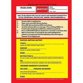 VHF DSC Mayday Procedure Card by Robert Dearn - 9781906594015 Book