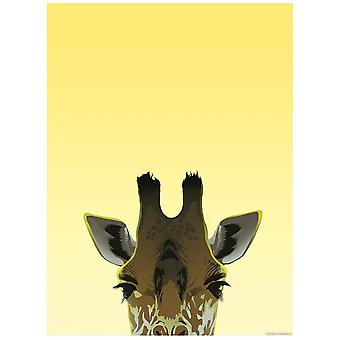 Créatures inquisitrices peaking girafe mini affiche