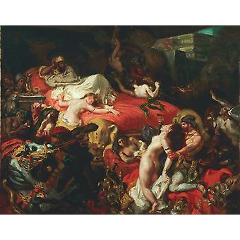 Death of Sardanapalus,Eugene Delacroix,50x40cm