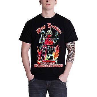 Rob Zombie Mens T Shirt Black Lord Dinosaur Robot Killer Official