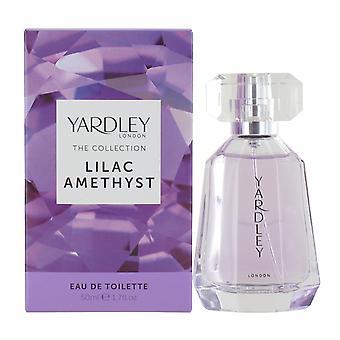 Yardley Lilac Amethyst 50ml Eau de Toilette Spray for Women