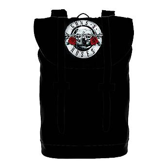 Guns N Roses Backpack Heritage Bag Silver Pistols Band Logo new Official Black