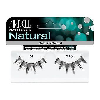 Ardell Natural 134 Negro Fácil de Aplicar Pestañas de Ojos Falsos Completos