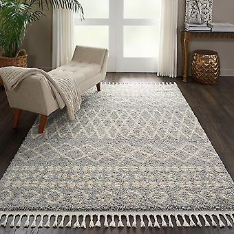 Moroccan Shaggy Rugs By Nourison Mrs02 In Silver