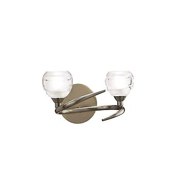 Mantra Loop Wall Lamp Switched 2 Light G9 ECO, Antique Brass