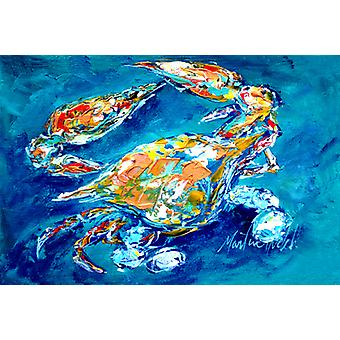 Carolines Treasures  MW1153PLMT By Chance Crab Fabric Placemat