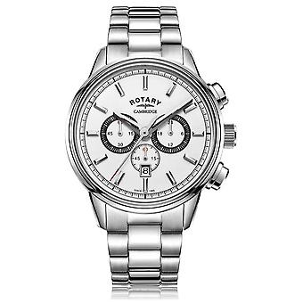 Rotary | Men's Cambridge Chronograph | White Dial | Stainless Steel GB05395/02 Watch