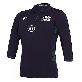 2019-2020 Scotland Macron Home Womens Cotton Rugby Shirt