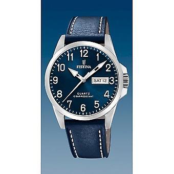 פסטינה-שעון יד-גברים-F20358/C-רצועת פלדה קלאסית