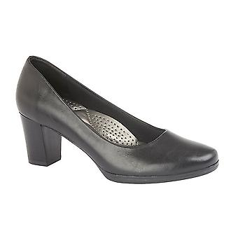 Boulevard Womens/Ladies PU Leather Plain Court Shoe (55mm Heel)