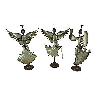 المجلفن الفن المعدني الرقص الملاك المنحوتات ديكور عيد الميلاد مجموعة من 3