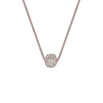 Elli Necklace with Women's Pendant Plated Rose Gold with Brown Crystal