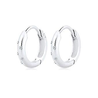 Diamore Silver Women's Hoop Earrings