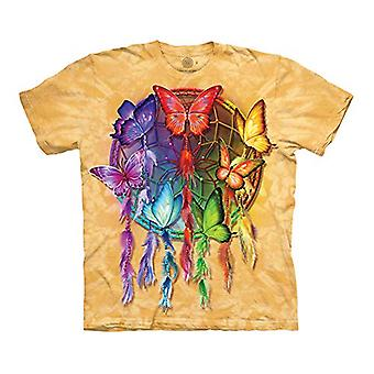 The Mountain Rainbow Butterfly Dream Adult T-Shirt, Yellow, Medium