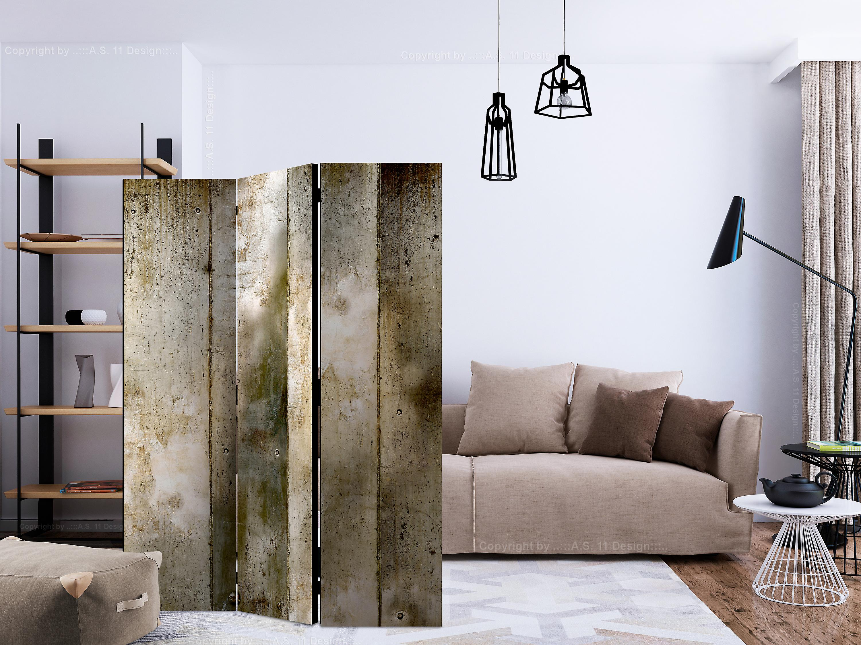 Paravent 3 volets - Gold stripes [Room Dividers]