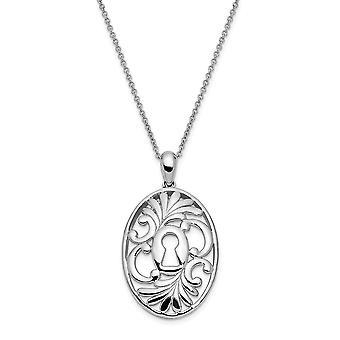 925 plata esterlina pulido regalo en caja anillo de primavera rodiado acabado creer en milagros 18in collar regalo de joyería