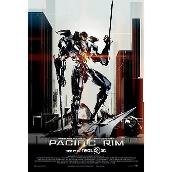 Pacific Rim Poster Single Sided Regular (Mini) - Rzadko Exlusive Yoji Shinkawa Artwork (2013) Original Cinema Poster