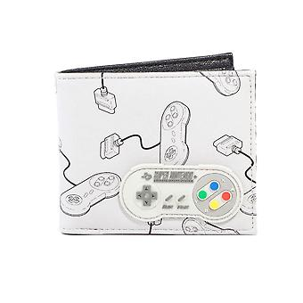 SNES Controller with Rubber Patch AOP Bi-Fold Purse