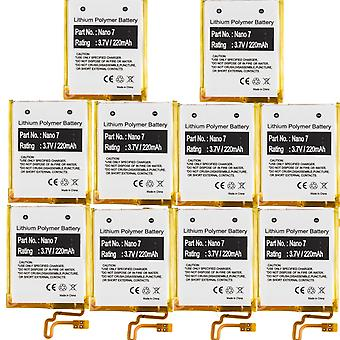 10-Pack Battery for Apple iPod Nano 7th Gen A1446 MD481LL/A 616-0639 616-0640