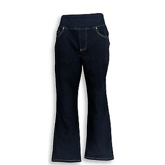 Belle por Kim Gravel Women's Petite Jeans Pull On Straight Leg Blue A297781