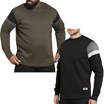 Duke D555 Mens Clermont Big Tall King Size Long Sleeve Crew Neck Sweatshirt Top