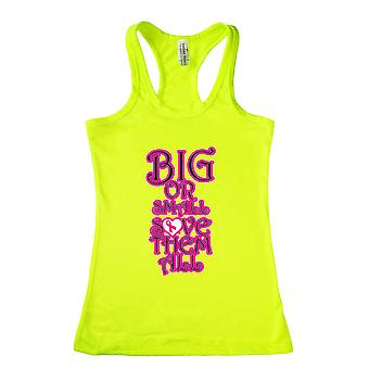 Women's Big or Small Save Them All Breast Cancer Racerback Tank Top