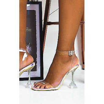IKRUSH Womens Cassie Barely There Perspex Statement Heels