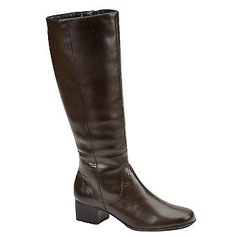 Walking Cradles Womens Mix14 Leather Round Toe Knee High Fashion Boots