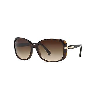 Prada SPR08O 2AU/6S1 Dark Havana/Brown Gradient Sunglasses