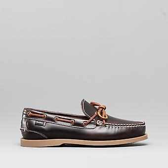 Chatham Saunton G2 Mens Leather Boat Shoes Dark Seahorse
