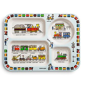 Tyrrell Katz Trains Design Melamine Compartment Tray