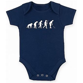 Navy blue newborn body evo0036 golfing evolution humor