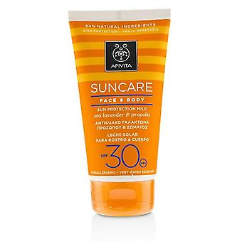 Apivita Suncare Face & Body Sun Protection Milk Spf 30 With Sea Lavender & Propolis - 150ml/5oz