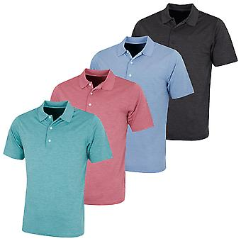 Greg Norman Mens KX83 Heathered Golf UV Protection Polo Shirt