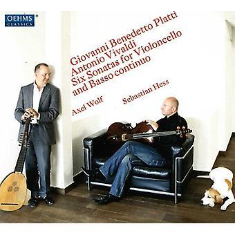 Platti/Vivaldi - Giovanni Benedetto Platti, Antonio Vivaldi: Six Sonatas for Violoncello and Basso Continuo [CD] USA import