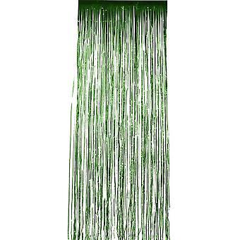 Мерцание занавес, зеленый металлик, 91x244cm / 36x96in