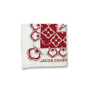 Jacob Cohen Pocket Square in red/off-white abstract design
