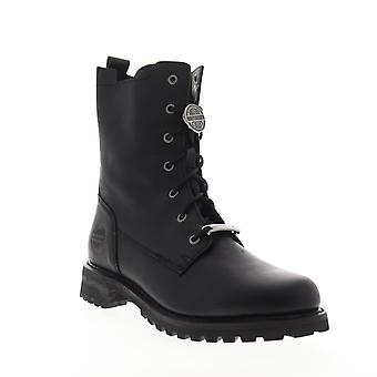 Harley-Davidson Wicklyn  Womens Black Leather Boots Zipper Motorcycle